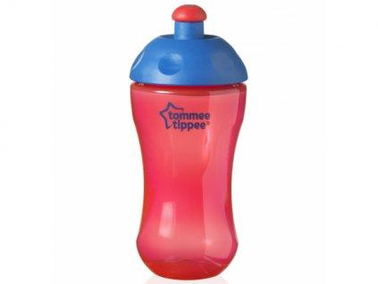 Tommee Tippee sportovní láhev 300ml 12m+ Basic červená