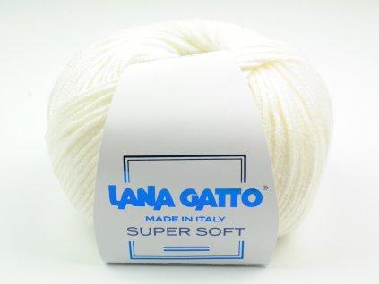 Lana Gatto pletací příze vlna merino SUPER SOFT bílá