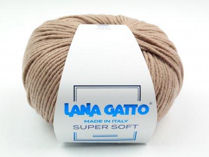 Lana Gatto pletací příze vlna merino SUPER SOFT béžová