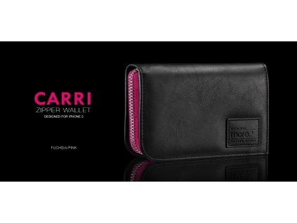 MORE Carri Zipper Wallet (Pink) - kryt na iPhone 5