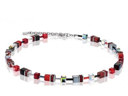 náhrdelník kostičky červený