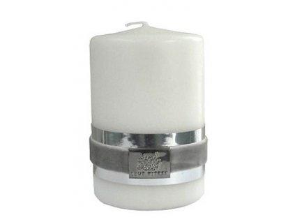 Lene Bjerre - svíčka Basic bílá 6 cm