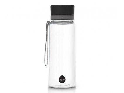 EQUA - láhev na vodu Plain Black 0.6 l