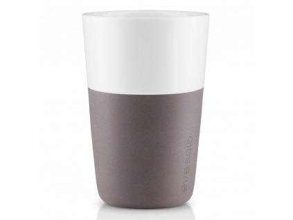 Eva solo - termohrnek na latte 2 ks šedý