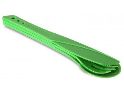 Lifeventure plastový příbor Ellipse zelený
