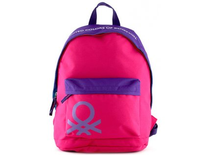 Benetton - batoh na volný čas růžovo-fialový
