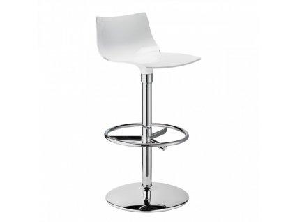 SCAB - barová plastová židle DAY TWIST bílá