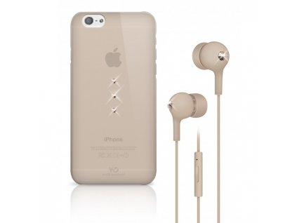 White Diamonds Crystal Earphone kryt pro iPhone 6 zlatý