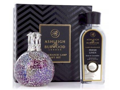 Ashleigh & Burwood - katalytická lampa - DÁRKOVÝ SET PEARLESCENCE + Fresh Linen 250ML