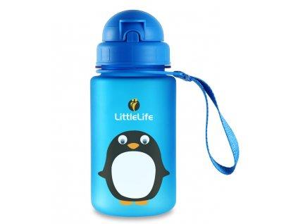 LittleLife lahev pro děti Animal Bottle 400 ml - tučňák