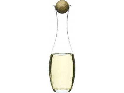 Sagaform - Karafa s dřevěnou kuličkou Oval Oak, bílé víno 1L