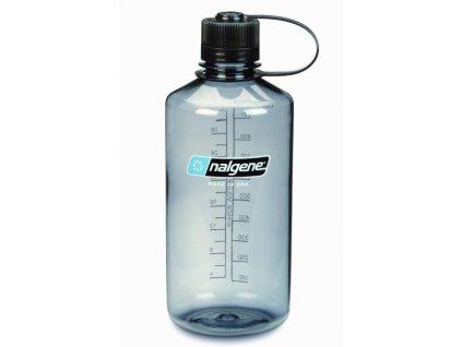 NALGENE - láhev na pití Narrow Mouth 1000 ml Grey