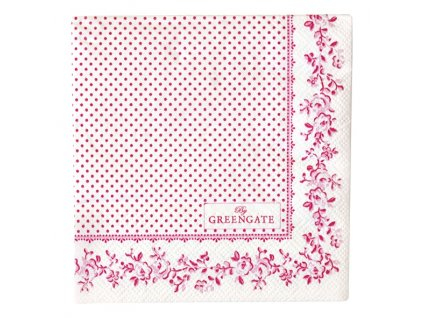 Green Gate - papírové ubrousky Audrey rasberry S