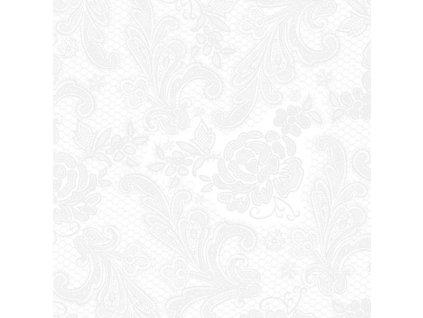 PPD - papírové ubrousky Lace Embossed bílé