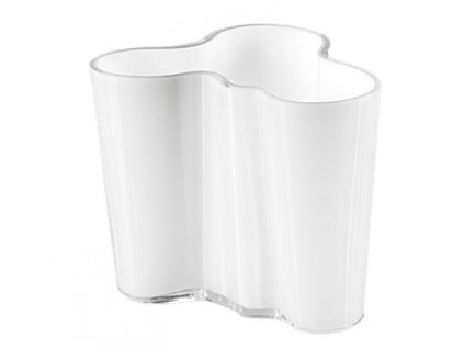 Iittala - váza Alvar Aalto , v. 95 mm bílá