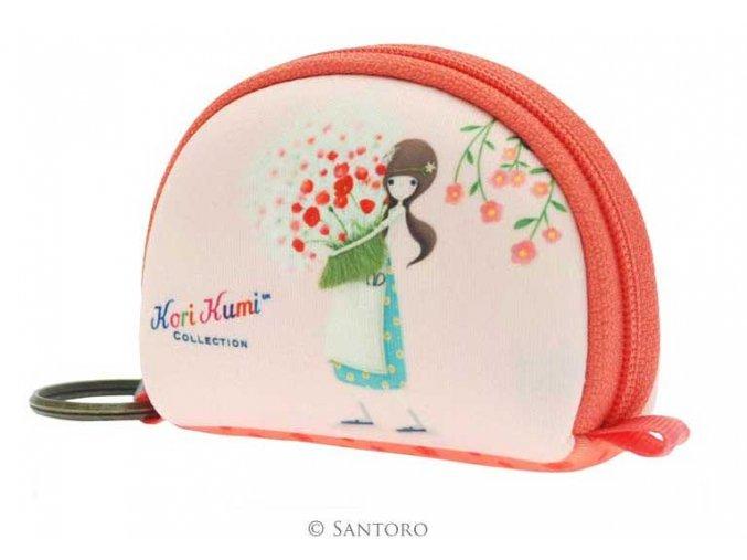 SANTORO - pouzdro/peněženka KORI KUMI - PRETTY AS A FLOWER