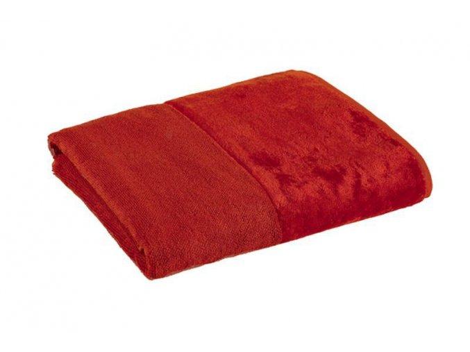 Möve - bambusový ručník červeno-oranžový