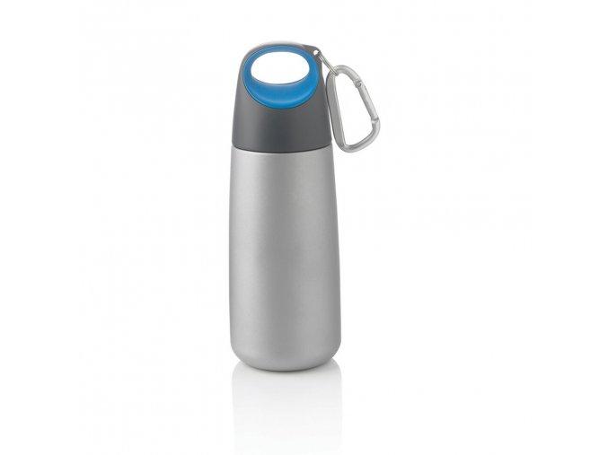 XDDESIGN - nerezová láhev s karabinou Bopp Mini 350 ml modrá