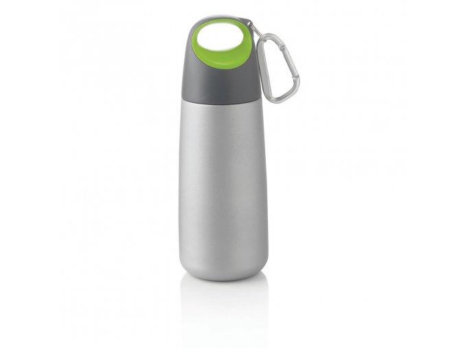 XDDESIGN - nerezová láhev s karabinou Bopp Mini 350 ml zelená