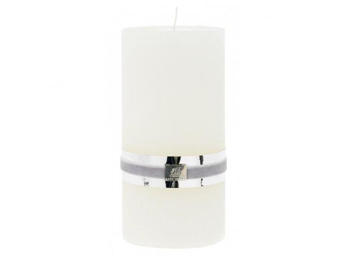 Lene Bjerre - svíčka Rustic  - bílá xl