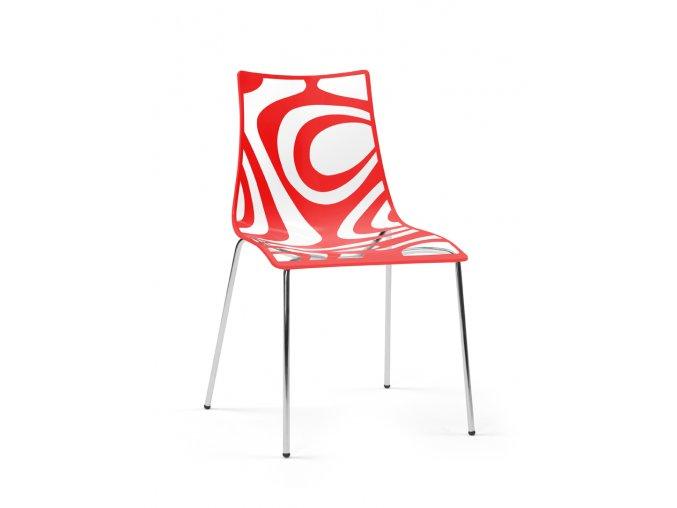 SCAB - plastová židle WAVE CHAIR 4 nohy