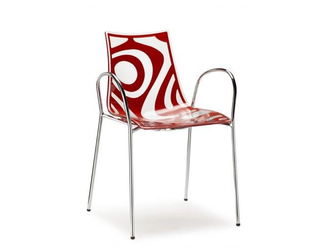 SCAB - plastová židle WAVE s područkami