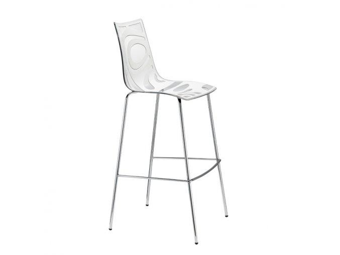 SCAB - plastová barová židle WAVE, fixní výška 65 cm