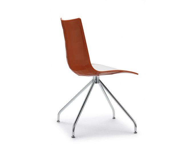 SCAB - plastová židle ZEBRA BICOLORE podnož trnož