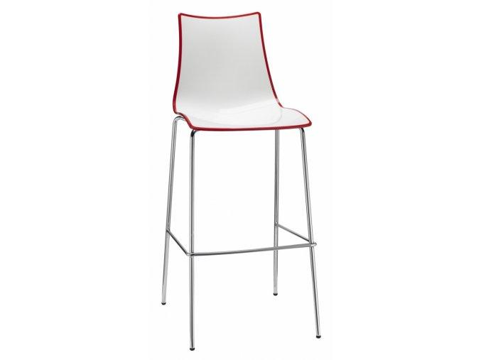 SCAB - plastová barová  židle ZEBRA BICOLORE STOOL, fixní výška 80 cm