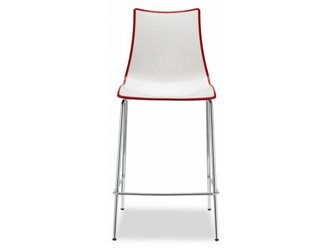 SCAB - plastová barová  židle ZEBRA BICOLORE STOOL, fixní výška 65 cm