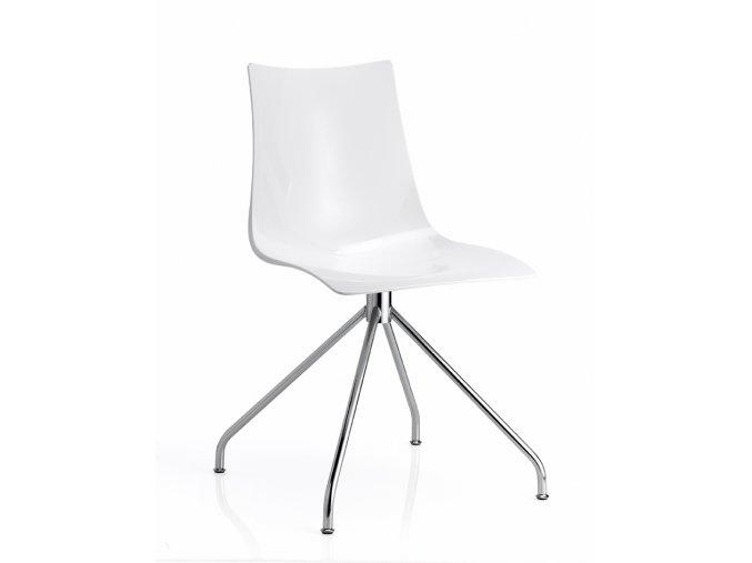 SCAB - plastová židle ZEBRA podnož trnož