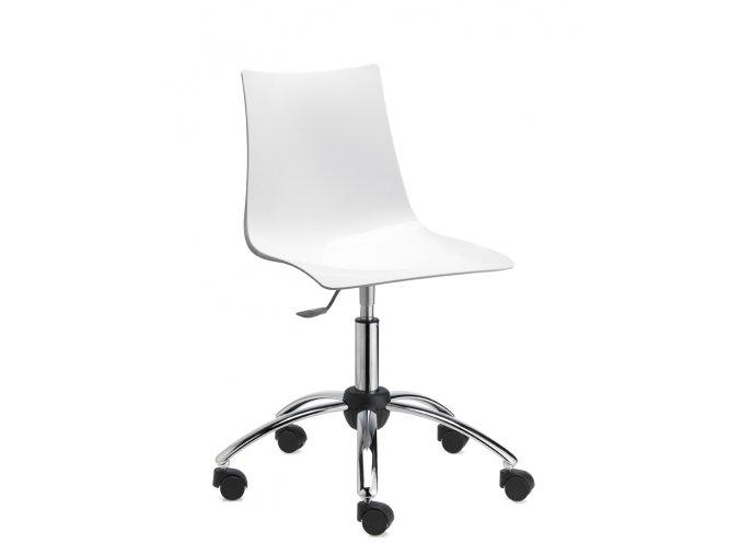 SCAB - otočná plastová židle ZEBRA kolečková