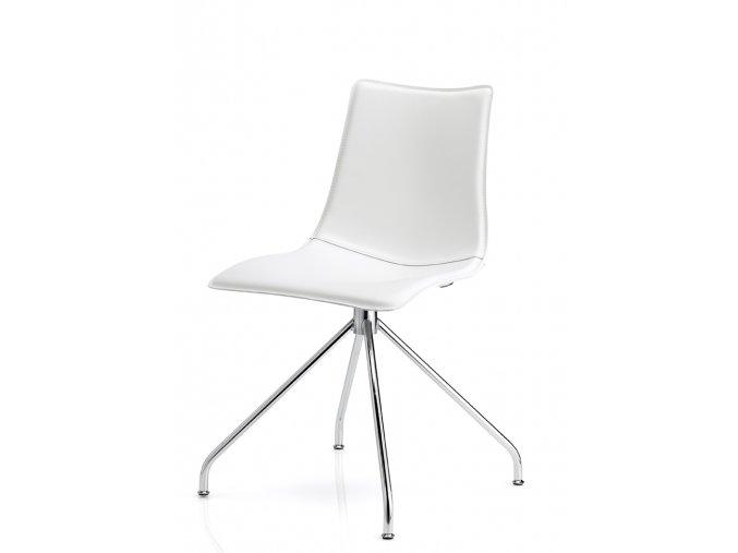 SCAB - polstrovaná plastová židle ZEBRA POP - podnož - trnož