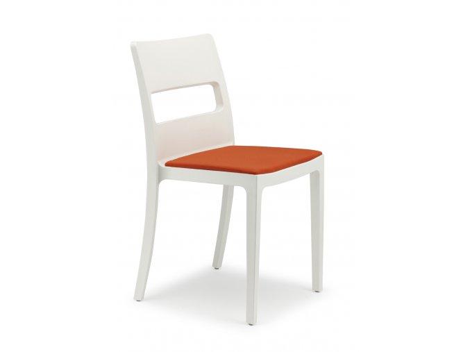 SCAB - plastová židle SAI polstrovaná - ecru