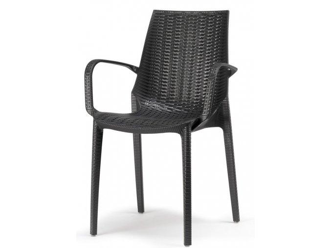 SCAB - zahradní plastová židle LUCREZIA s područkami