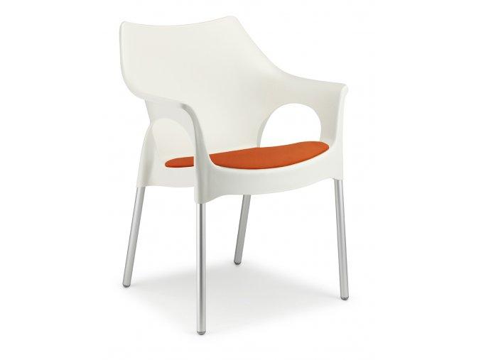 SCAB - plastová židle OLA polstrovaná