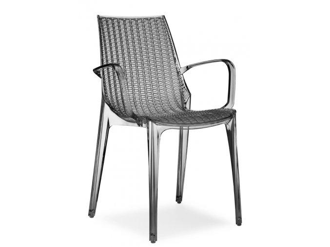 SCAB - plastová židle TRICOT s područkami