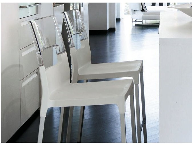SCAB - barová plastová židle DIVA STOOL, fixní výška 75 cm