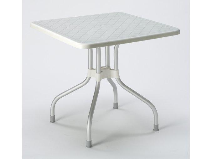 SCAB - plastový zahradní stůl RIBALTO, top 80 x 80 cm