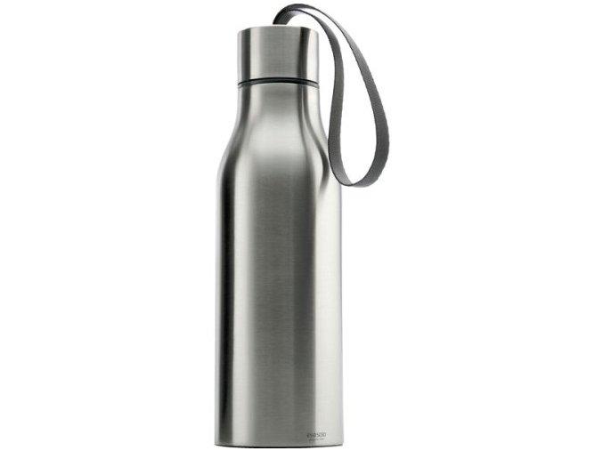 Eva solo - nerezová termo láhev šedé poutko