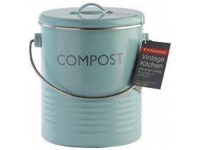 Typhoon - nádoba na kompostovatelný odpad Vintage 3l modrá