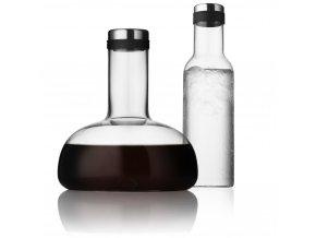 Menu - set karafa na víno a láhev na vodu