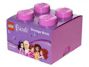 LEGO Friends úložný box 250 x 252 x 181 mm růžový