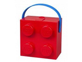 LEGO box na svačinu s rukojetí červený