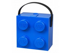 LEGO box na svačinu s rukojetí modrý