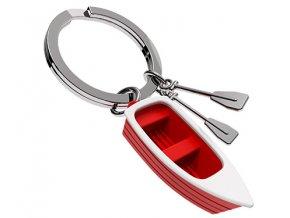 MTM - klíčenka Člun s vesly červený