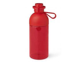 LEGO láhev na pití transparentní 500 ml červená