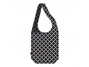 ECOZZ nákupní taška Crossbodybag Black Squares