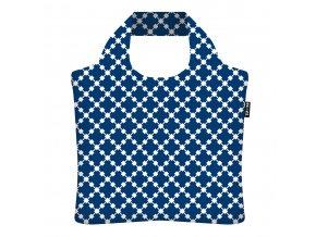 ECOZZ nákupní taška Blue Squares