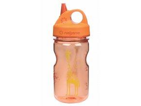 NALGENE - dětská láhev Grip'n Gulp 375 ml Orange Giraffe